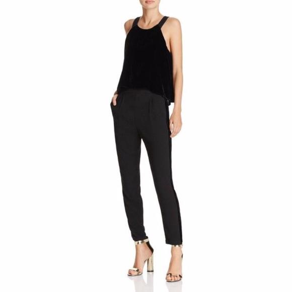 bc65a524070 Ella Moss Black Duchess Velvet Jumpsuit